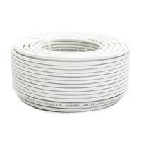 50m PremiumX Mini Koaxial Sat Kabel 4mm extra dünn Weiß Koax Antennenkabel 2-fach geschirmt für Sat | Kabel | DVB-T – Ultra HD 4K 3D