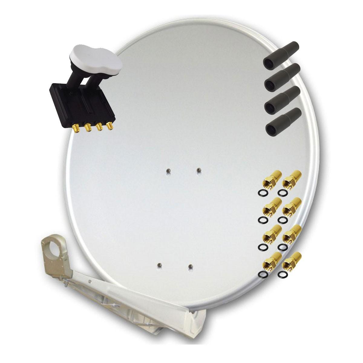 Antenne Premiumx Deluxe85 Aluminium 85cm Digital Sat Schussel