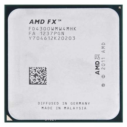 AMD FX-4300 4-Core 3.8GHz AM3+ 8MB Cache 95W CPU Processor
