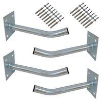 4x PremiumX Autoreifen Wandhalter 35cm Reifenhalter für Auto-Felgen Reifen Wandhalterung inkl. Montage-Schraubensatz – Bild 1