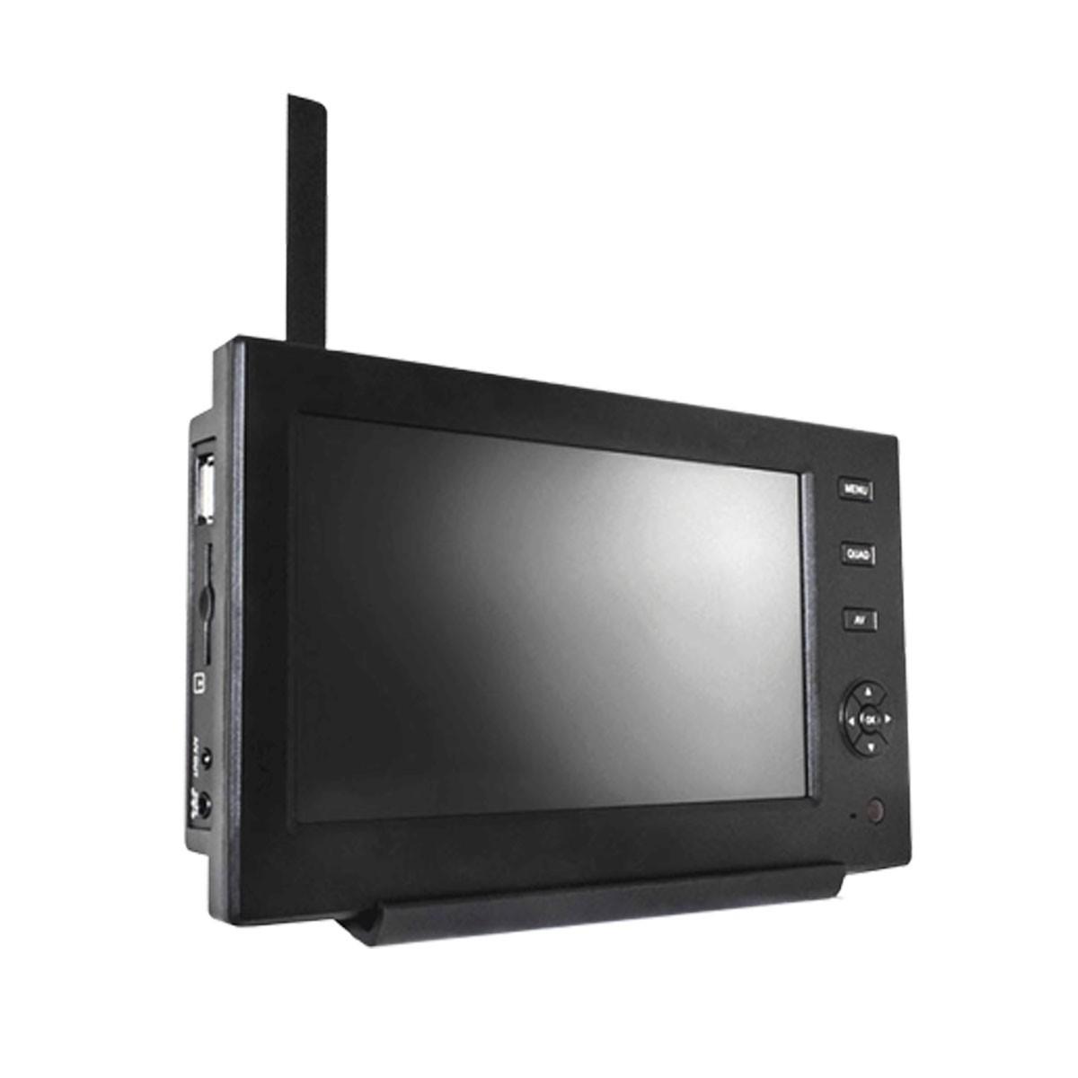 video berwachungsanlage mit 4 kameras und monitor funk. Black Bedroom Furniture Sets. Home Design Ideas