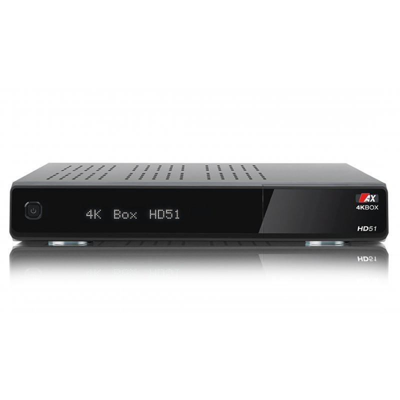 AX 4K-BOX HD51 Digital Sat Receiver 1x DVB-S2 Tuner Linux UHD 4K