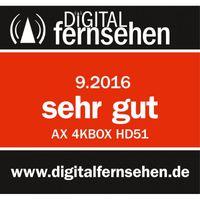 AX 4K-BOX HD51 Digital Sat Receiver 1x DVB-S2 Tuner Linux UHD 4K – Bild 5