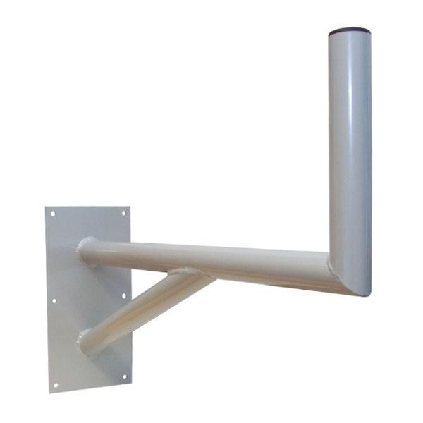 PremiumX 80cm Wandhalter pulverbeschichtet Hellgrau Montage von SAT Anlagen Spiegel Schüssel Wand Halter mit Stützelement 800mm