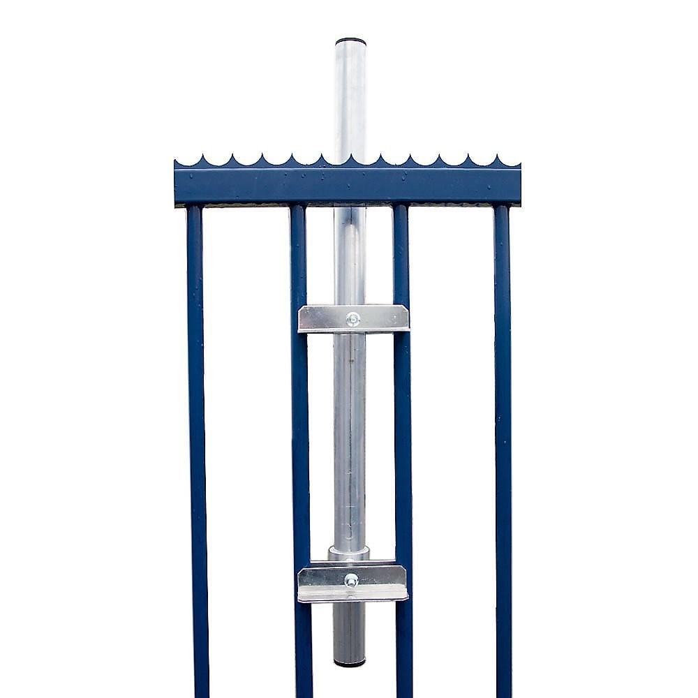 PremiumX SAT-Klemmhalter 100 cm Ø 40 mm Mast ALU Geländerhalter Geländerklemmhalterung Antenne Zaunhalter Balkon-Streben Halterung