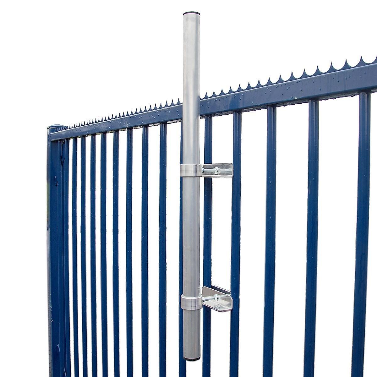 PremiumX SAT-Klemmhalter 100 cm Ø 48 mm Mast Stahl Geländerhalter Geländerklemmhalterung Antenne Zaunhalter Balkon-Streben Halterung