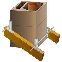 PremiumX Schornsteinhalter M20 Sparrenhalter für Schornstein Kamin-Dach-Befestigung-Set Kaminhalter Kaminsparrenhalter Schornstein-Dachdurchgang-Halterung universal einsetzbar – Bild 1