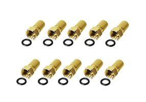 10x F-Stecker 8 mm mit Gummidichtring für Koaxialkabel Antennenkabel Koax Kabel – Bild 1