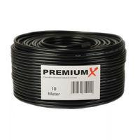 10 Meter Sat Koaxial Kabel 90dB Twin Mini 2x 4 mm Schwarz Antennenkabel FullHD HDTV NEU – Bild 2