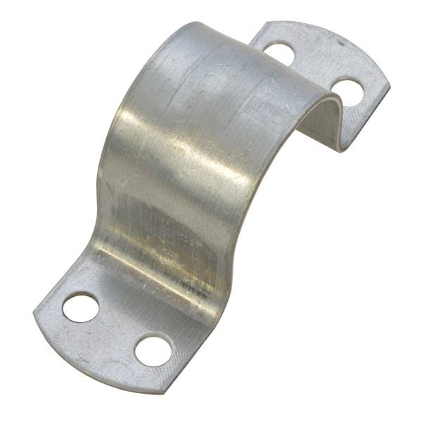 PremiumX Mastschelle 42mm 4-Loch stahl verzinkt Masthalterung für Mastrohre bis 42 mm Ø Rohrschelle SAT Antenne Mast Befestigung Montage-Zubehör