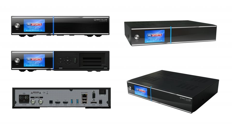Gigablue UHD Quad 4K Sat Receiver 2x DVB-S2 Twin Tuner Linux Smartcard HDTV