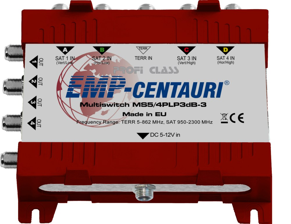 Emp Centauri Multischalter MS 5/4 PLP-3 Verteiler Matrix Switch