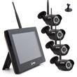 "SCHMIDT-Security-Tools Funk Videoüberwachungsanlage HD 720P 4x Kamera 9"" Zoll Touch Monitor mit Standfuß Videoüberwachungssystem Drahtlos Überwachungssystem kabellos inkl. App für Smartphone Android iPhone IOS  001"