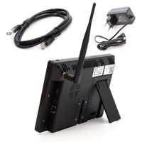 "SCHMIDT-Security-Tools Funk-Überwachungssystem 2x Kamera 9"" Touch-Monitor mit Standfuß HD Videoüberwachungsanlage Drahtlos Überwachungsset Sicherheitssystem 2TB HDD Festplatte – Bild 5"