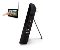 "SCHMIDT-Security-Tools Funk-Überwachungssystem 2x Kamera 9"" Touch-Monitor mit Standfuß HD Videoüberwachungsanlage Drahtlos Überwachungsset Sicherheitssystem 500GB HDD Festplatte – Bild 4"