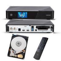 VU+ UNO 4K SE 1X DVB-S2 FBC TWIN TUNER UltraHD PVR SAT LINUX RECEIVER UHD 2160P + 1TB HDD Festplatte