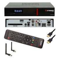 OCTAGON SF 138 E2 HEVC H.265 HD RED FullHD Linux Kabel DVB-C/T2 TV Receiver + WLAN STICK