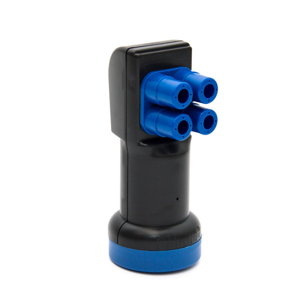 PremiumX Quad LNB PXL-QS LED Empfangskopf Sat 0,1 dB für 4 Teilnehmer HDTV FullHD 3D 4K High Quality inkl. Wetterschutz