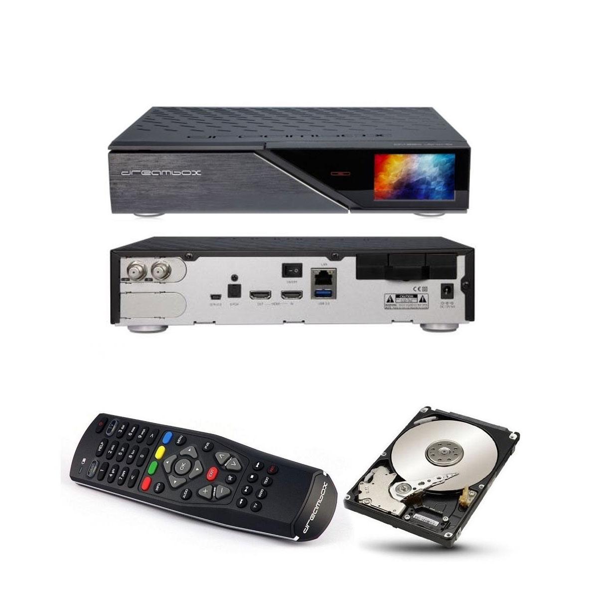 Dreambox DM 920 UHD 4K 1x Dual DVB-S2 FBC Tuner E2 Linux PVR Receiver + 2TB HDD Festplatte