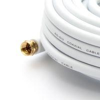 25m PremiumX HDTV Sat Antennenkabel Koax Kabel vergoldet 75 Ohm Koaxialkabel für Sat-Anlage DVB-S DVB-S2 DVB-T DVB-T2 mit Mantelstromfilter – 2x Ferritkern – Weiß – Bild 5