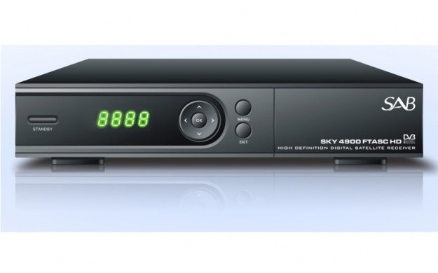 SAB SKY 4900 HD FTASC (S806) HDTV DIGITAL FULL HD SAT RECEIVER PX150-MEGA WLAN Stick abnehmbarer Antenne USB Wireless-LAN 150 MBit/s WI-FI