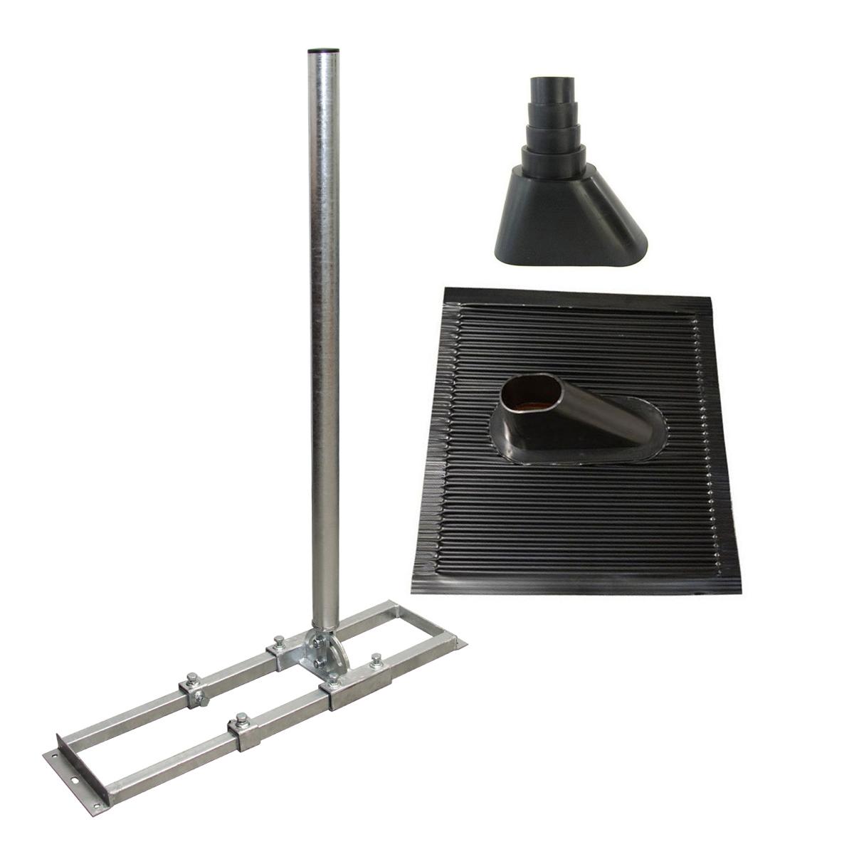 PremiumX PROFI X100-48F Dachsparrenhalter Stahl voll feuerverzinkt ALU Dachabdeckung Manschette schwarz