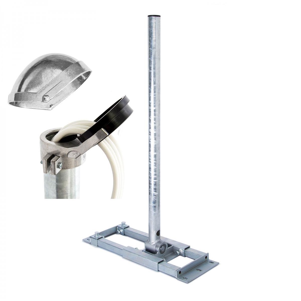 SAT Antenne Dachsparrenhalter 130cm Mast Sparrenhalter Dach Halterung Montageset