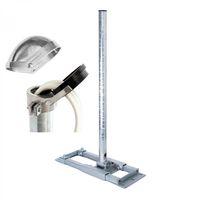 PremiumX DELUXE X130-48 Dachsparrenhalter 130cm Mast SAT Antenne Sparrenhalter Dachhalter ALU Mastkappe Kabeldurchführung