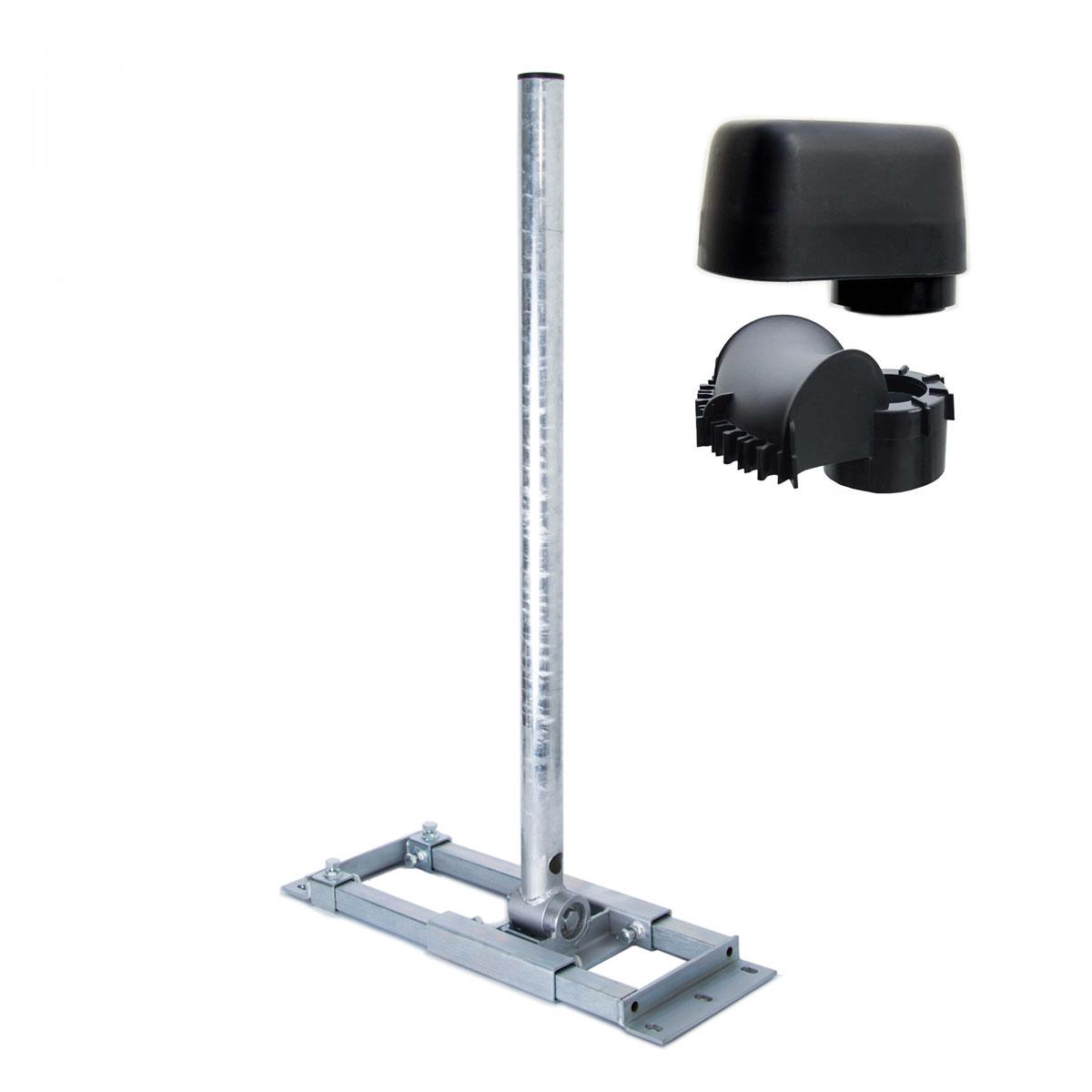 PremiumX DELUXE X130-48 Dachsparrenhalter 130cm Mast SAT Antenne Sparrenhalter Dachhalter mit Kabeldurchführung Mastkappe