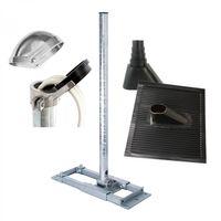 PremiumX DELUXE X130-48 Dachsparrenmasthalter 130cm Mast SAT-Antenne Halterung ALU-Kappe Dach Abdeckung Dichtung schwarz
