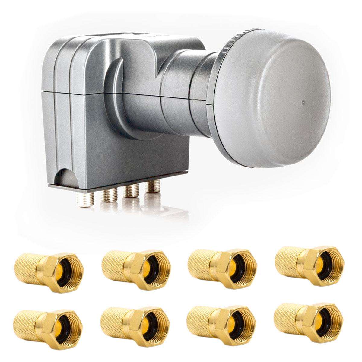 fuba dek 407 quattro lnb multischalter mit integriertem wetterschutzgeh use zum schutz der f. Black Bedroom Furniture Sets. Home Design Ideas
