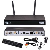 Axas HIS 4K Combo+ E2 Digital Sat Receiver 1x DVB-S2 / 1x DVB-C/T2 Tuner HD