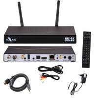 AXAS HIS 4K Combo Sat Receiver 1X DVB-S2 1X DVB-C T2 4K UHD LINUX + PremiumX 1,5m HDMI-Kabel mit 24K vergoldeten Kontakten HighSpeed mit Ethernet – Bild 1