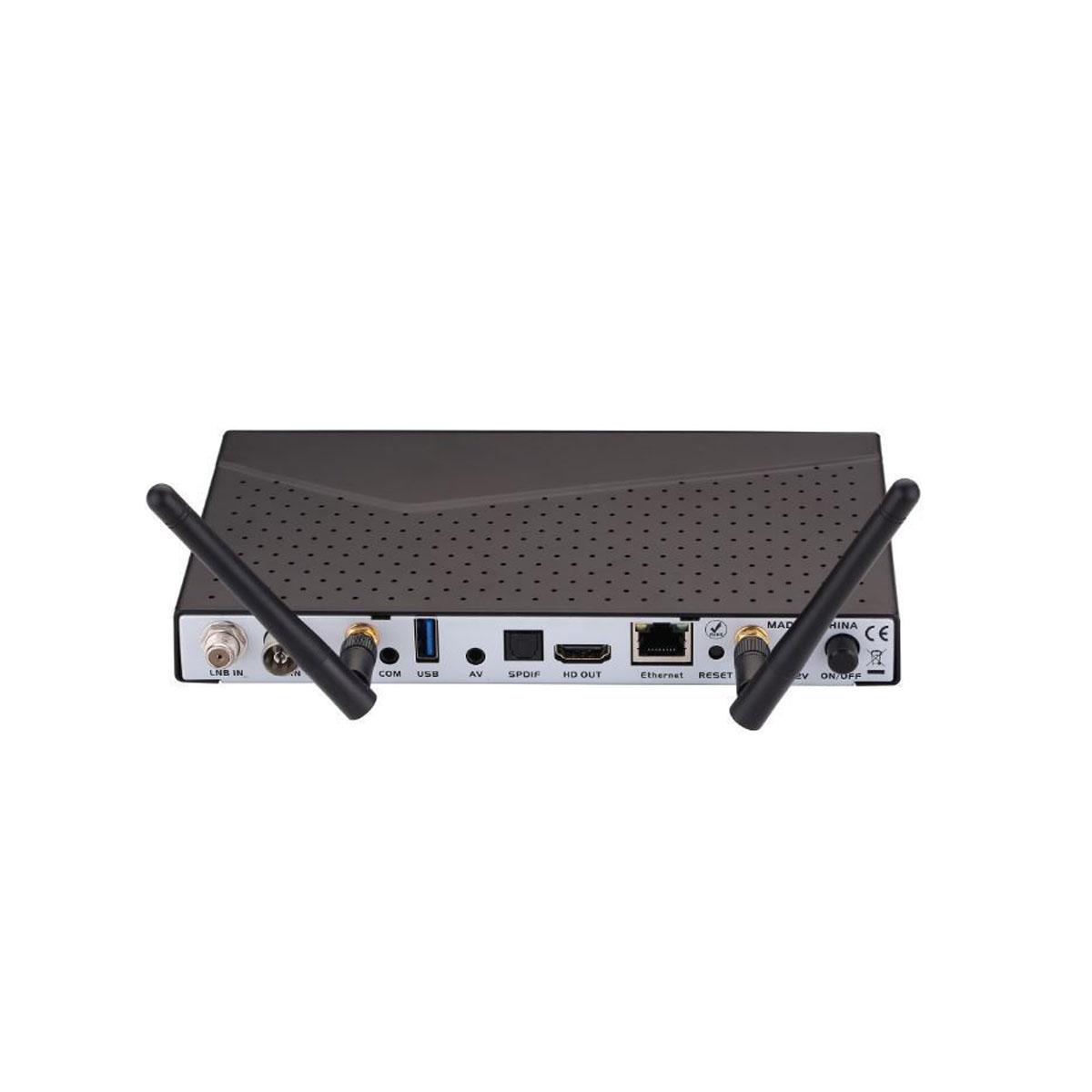 Axas HIS 4K Combo+ E2 Linux und Android Sat Receiver 1x DVB-S2  1x DVB-C/T2 HD UHD H.265 HEVC + PremiumX 1,5m HDMI-Kabel mit 24K vergoldeten Kontakten