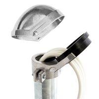 PremiumX SAT Aluminium Mastkappe für Dachsparrenhalter Mast 48-52mm Kabeleinführung Mastabdeckkappe