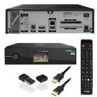 Protek 4K E2 Linux HDTV Receiver + Dual DVB-S2/S2X Tuner + Mini WIFI WLAN Dongle USB 2.0
