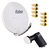 Fuba DAA 850 G SAT Anlage Set 85cm Alu Grau Inverto Black LNB LNC Kopf HDTV 4K