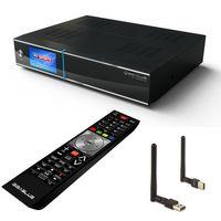 Gigablue UHD Quad Sat Receiver 2x DVB-S2 HDTV 4K + PremiumX PX150 MEGA WLAN Stick