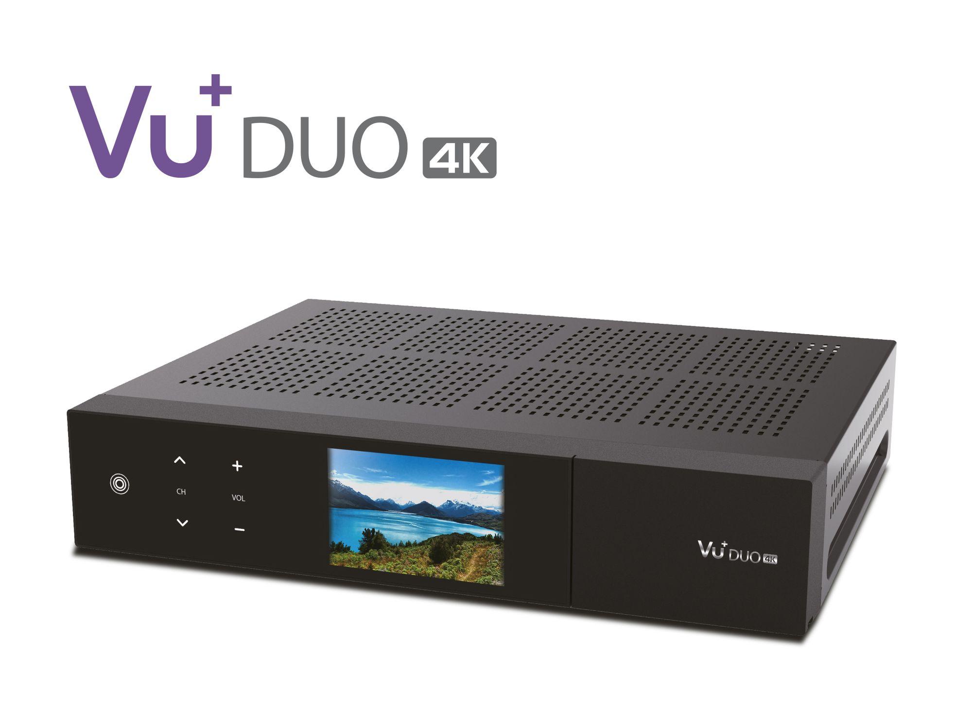 VU+ Duo 4K 1x DVB-S2X FBC Twin Tuner PVR Linux Receiver UHD 1 TB Festplatte