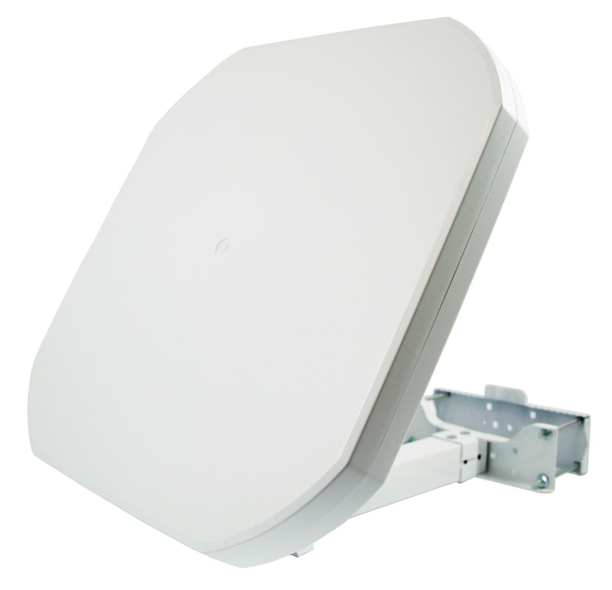 PremiumX FLAT43 Sat Flachantenne mit Digital Twin LNB - Satellitenanlage für 2 Teilnehmer – 4K UHD FullHD HD