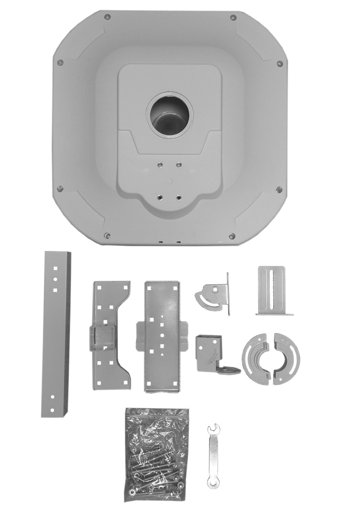 PremiumX FLAT43 Sat Flachantenne mit Digital Quad LNB - Satellitenanlage für 4 Teilnehmer – 4K UHD FullHD HD