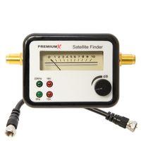 PremiumX PXF-11 Analog Sat Finder LED Anzeige Satelliten Finder FullHD 4K