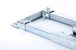 PremiumX DELUXE X90-48C Dachsparrenhalter 90cm Chrom Mast 48mm SAT Dach Halterung Sparrenhalter mit Kabeldurchführung – Bild 7