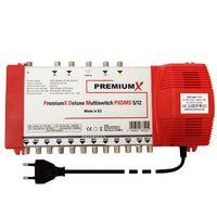 PremiumX DELUXE Multischalter PXDMS 5/12 SAT Digital Verteiler 12 Teilnehmer Quad-tauglich