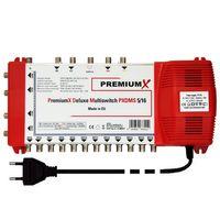 PremiumX DELUXE Multischalter PXDMS 5/16 SAT Digital Verteiler 16 Teilnehmer Quad-tauglich
