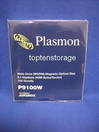 Plasmon P9100W 9,1GB WORM MO-Disk Write Once Only NEW