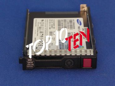 """HP 480GB hot-plug Solid State Drive (SSD) SATA Read Intensive (RI) 6Gb/sec transfer rate 2,5"""" SFF SmartDrive Carrier SC value endurance (VE) power loss protection (PLP) For Gen8 servers and beyond  789356-001 789145-B21"""