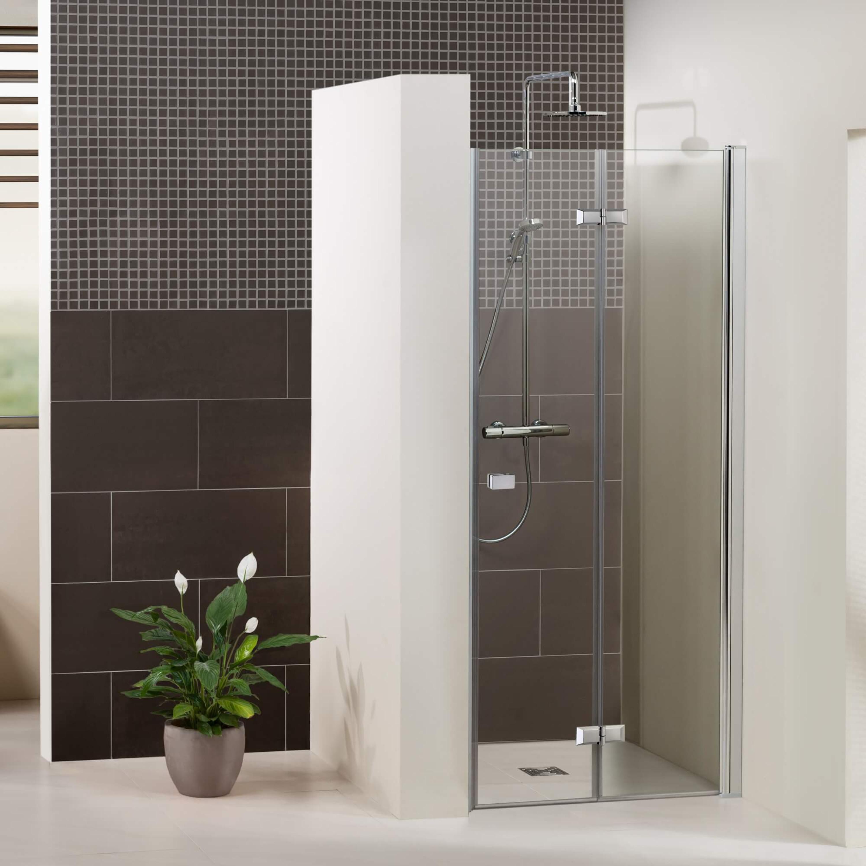 Duschkabine/ Duschabtrennung Dusbad Vital 1 Dusche / Drehfalttür für Nische  ESG 6mm Made in Germany | Glasduschen & Duschkabinen