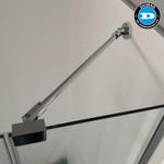 Wandanschluss-Set - Stabilisator für Duschkabine Glas/Wand 300mm, chorm 3
