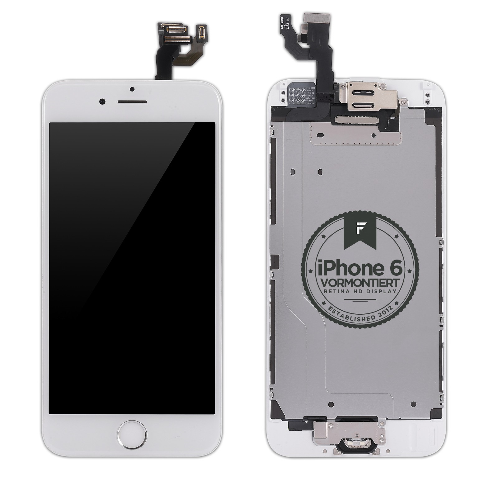 iphone 6 lcd display f 252 r iphone 6 weiss vormontiert displays apple 11354